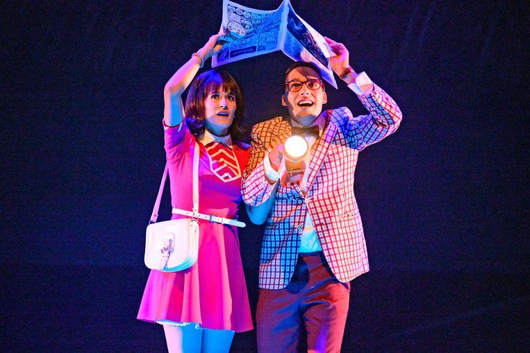 Janet (Esmée Dekker) en Brad (Samir Hassan) in Rocky Horror Show. Beeld Roy Beusker