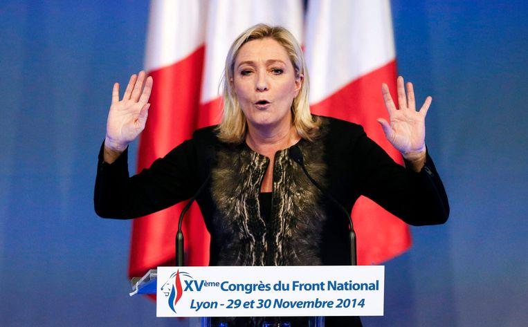 De Franse politica Marine Le Pen. Beeld reuters