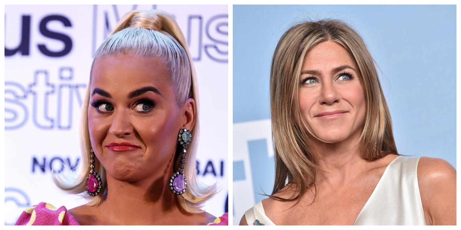 Katy Perry wil dat Jennifer Aniston de meter van haar ongeboren dochtertje wordt