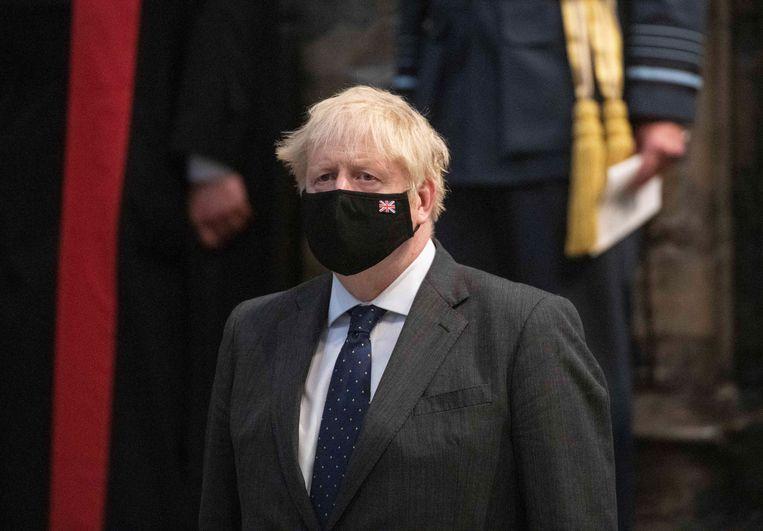 Boris Johnson had in 2019, toen hij partijleider werd van de Conservatieve Partij en premier, al aangekondigd dat de dagen van de kilo waren geteld. Beeld REUTERS