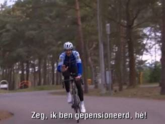 """Boonen haalt fiets vanonder eerste (dun) laagje stof: """"Zeg, ik ben gepensioneerd, hé"""""""
