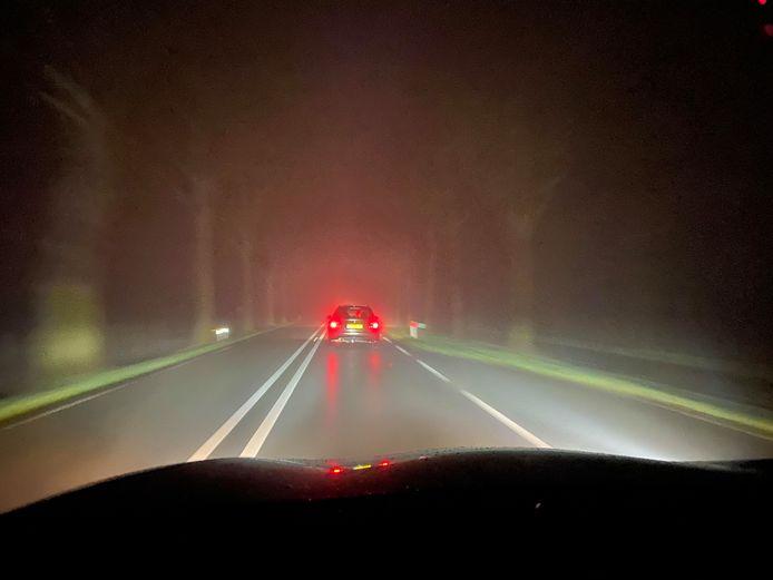 Mist op de weg.