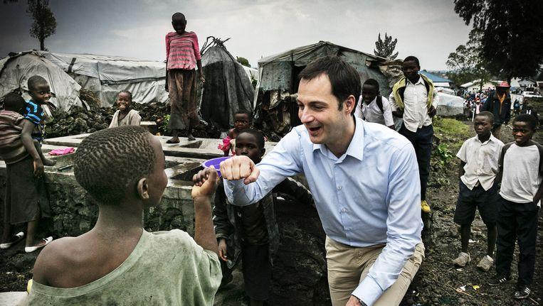 Minister De Croo bezocht eerder dit jaar ook al een vluchtelingenkamp in het Congolese Goma. Beeld Tim Dirven