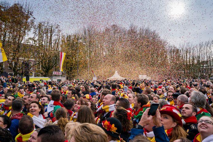 Opening van het carnavalsseizoen op 11-11 in 2019 op de Parade in Den Bosch.