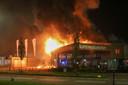 In Veenendaal bereikte de vlammenzee uiteindelijk ook Superkeukens.