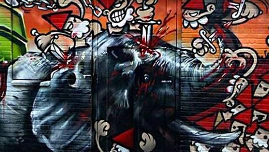 Utrecht: de kabouters nemen wraak op een soortgenoot van Feyenoord-mascotte Olli.