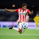 Shurandy Sambo, een van de talenten van PSV die zich dit seizoen op het tweede niveau meer dan bewezen heeft.