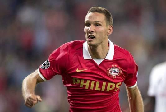Tim Matavz scoorde gisteravond nog voor PSV tegen AC Milan.