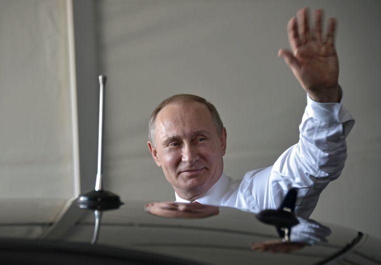 Poetin was afgelopen weekend te gast op de Grote Prijs Formule 1 in Sotchi.