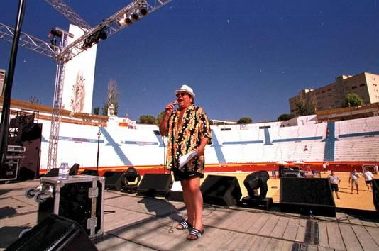 André Hazes repeteert voor zijn show in Benidorm.