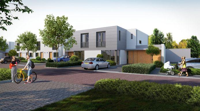 Artist impression van de woningen in project Puur Zuid in Breda