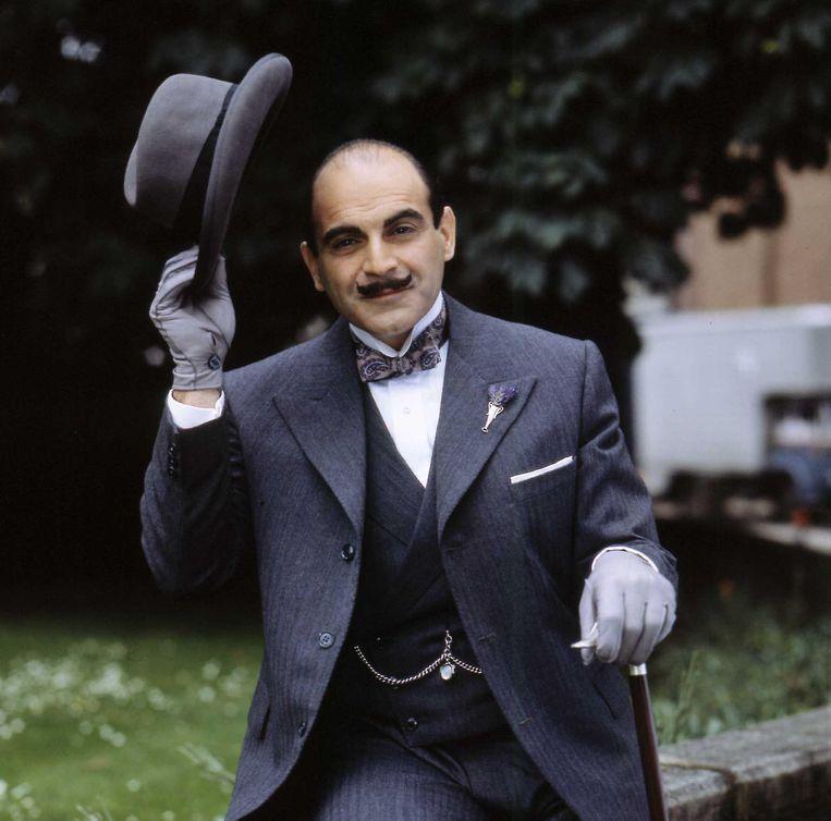 Acteur David Suchet Stars in 'Hercule Poirot's Casebook' Beeld Getty