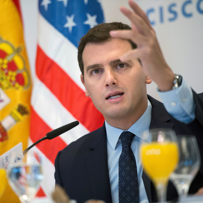 Albert Rivera, leider van de omstreden Spaanse politieke partij Ciudadanos.