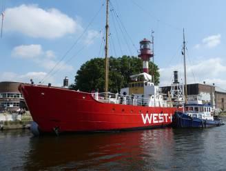 Historisch lichtschip West-Hinder III is thuisgekomen: blikvanger van Droogdokkensite
