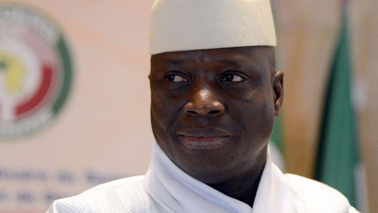 De Gambiaanse president Yahya Jammeh Beeld AFP