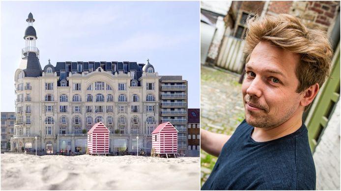 Zo zou 'The Grand', dat vlak aan het strand ligt, er in 2024 moeten uitzien. Greg Gosiau hoopt eigenaar te worden van een van de kleinere appartementen in 'The Grand'.
