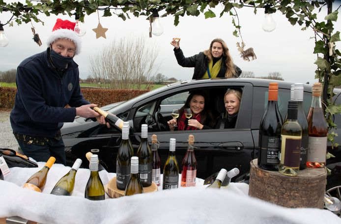 Christmas Wine Drive Tru bij het Betuws Wijndomein.
