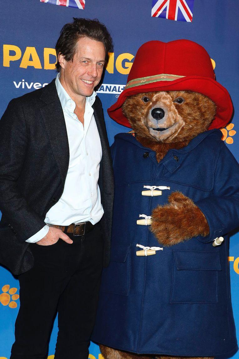 Hugh Grant op de première van 'Paddington 2'.  Beeld Photo News