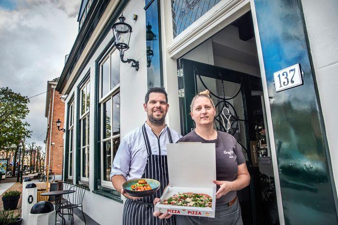 Rick van den Berg en Jolijn Bakker voor restaurant Chapter.