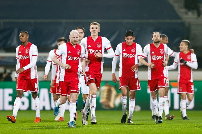 Ajax won gisteren in de halve finale met 0-3 van SC Heerenveen.