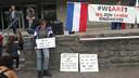 Tegendemonstratie op Stadhuisplein in Eindhoven