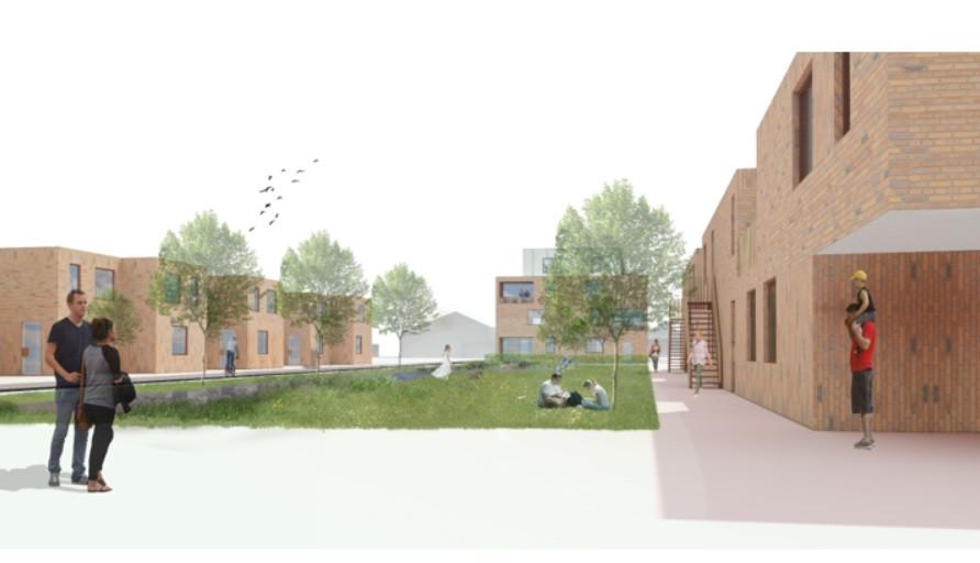 Een toekomstbeeld van het woonproject