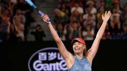 Sharapova mept titelverdedigster Wozniacki uit het toernooi - Tiafoe bezorgt zichzelf mooie primeur