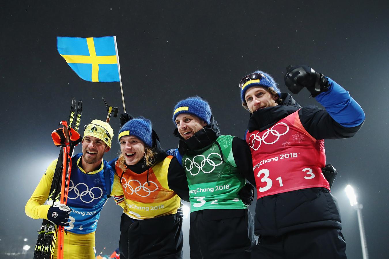 Zweedse biatleten tijdens de Winterspelen van 2028.