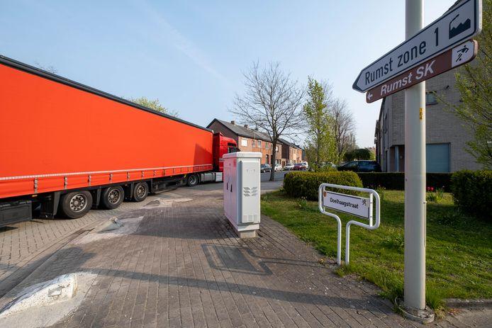 Vrachtverkeer in de Doelhaagstraat