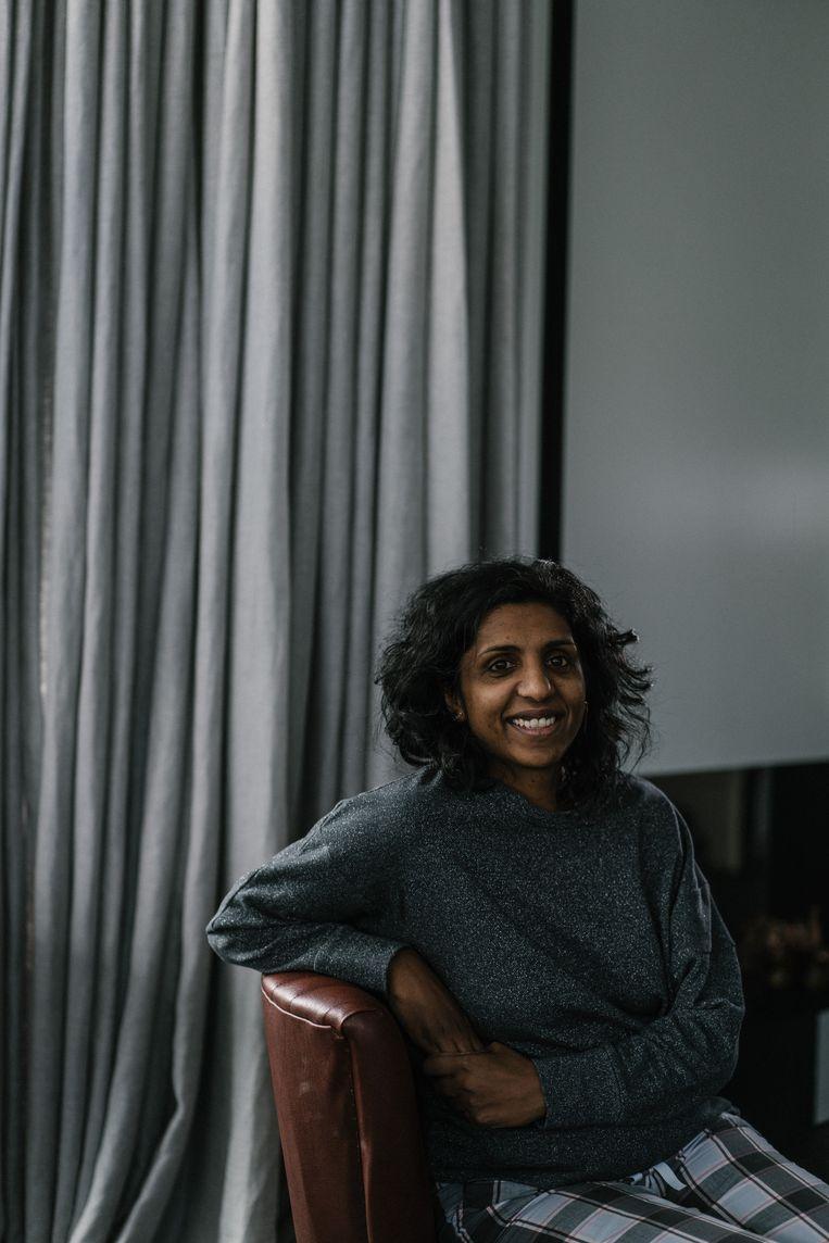 Babitha Degroote (43): 'Adoptie moet altijd de laatste stap in de kinderbescherming zijn.' Beeld Wouter Van Vooren