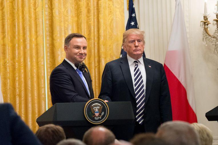Trump met zijn Poolse collega Andrzej Duda