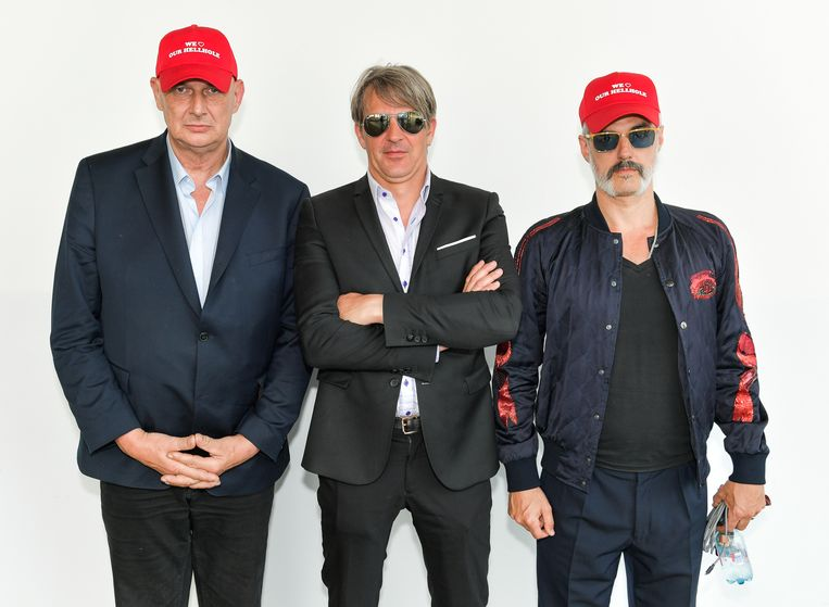 Paul Van Bruystegem, Mario Goossens en Ruben Block van Triggerfinger Beeld Photo News