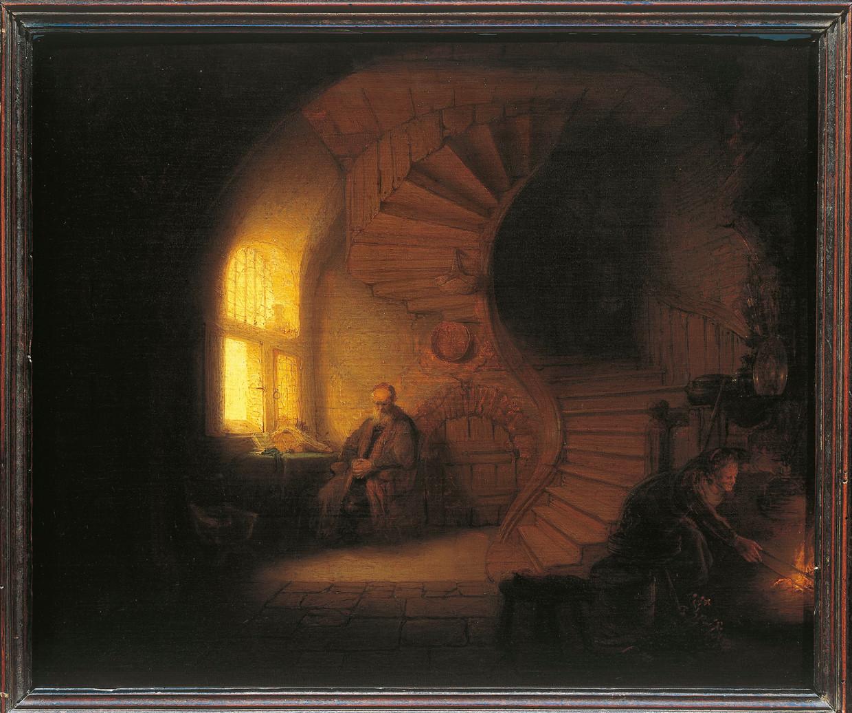 Le Philosophe en méditation van Rembrandt. Beeld De Agostini via Getty Images