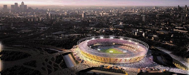 Dit jaar staat voor veel sporters in het teken van de voorbereidingen voor de Olympische Spelen in Londen. Op de foto een computerweergave van het toekomstige Olympisch Stadion. (FOTO REUTERS) Beeld Reuters