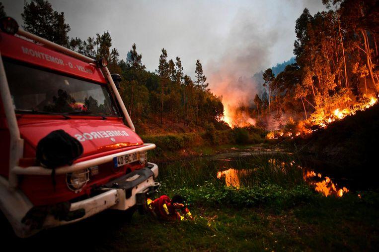 Ook branden bij Penela, Portugal Beeld afp