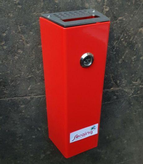 Seraing distribue gratuitement des cendriers muraux aux commerçants pour lutter contre les déchets