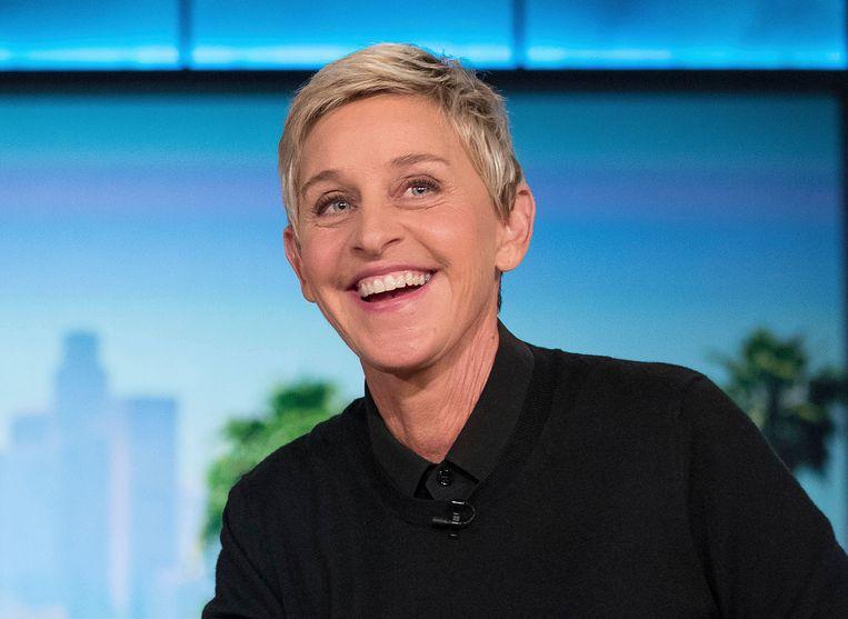 Ellen DeGeneres bij een opname van