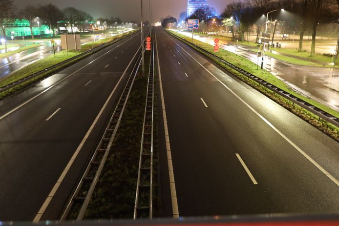 Verlaten A59 bij Waalwijk.
