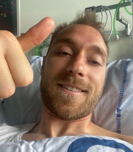 """Eriksen donne de ses nouvelles depuis son lit d'hôpital: """"Je vais bien"""""""