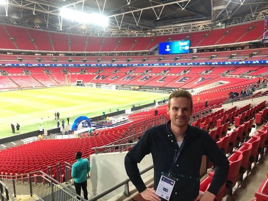 Verslaggever Chris Ottens in Wembley.