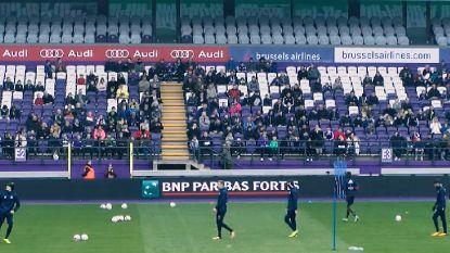 VIDEO: Honderden Anderlechtfans trotseren de kou op open training