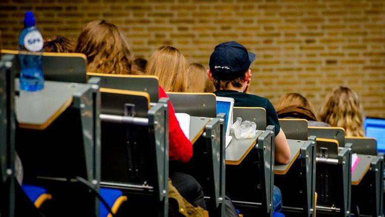 Een collegezaal Beeld anp