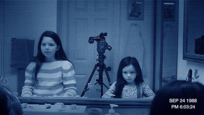 Een beeld uit Paranormal Activity 3.
