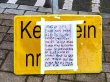 Lol! Dronkenlap brengt verkeersbord terug: 'Spijt toen alcoholische versnaperingen uitgewerkt waren'