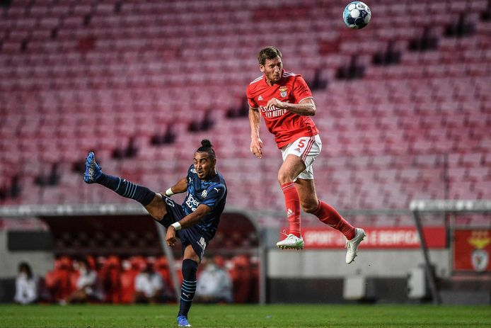 Jan Vertonghen in een oefenwedstrijd tegen Olympique Marseille.