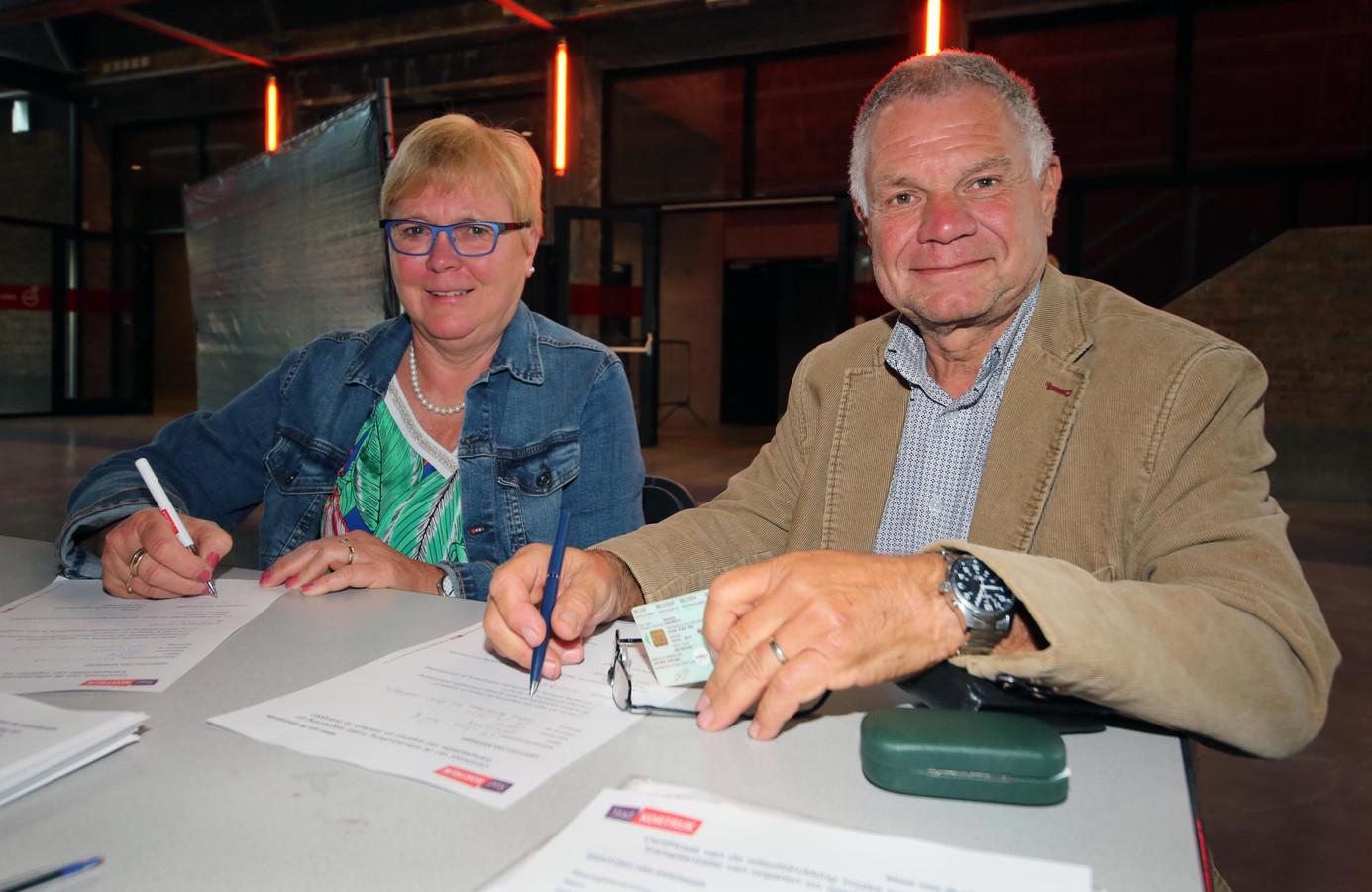 Els Verheye en Geert Desloover.