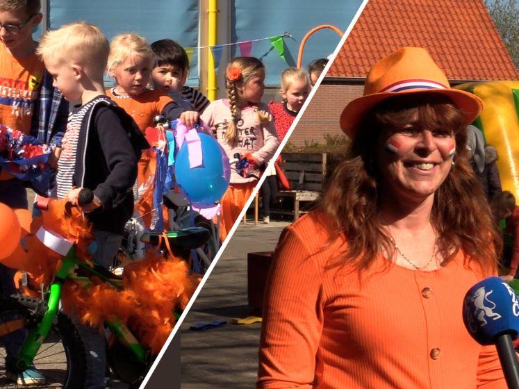 Koningsspelen in Serooskerke: versierde fietsen, strálende kinderen
