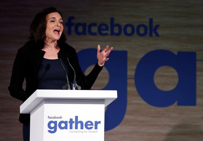 Facebooks COO Sheryl Sandberg, hier op archiefbeeld, sprak vanmiddag met journalisten over de toekomst van het techbedrijf.