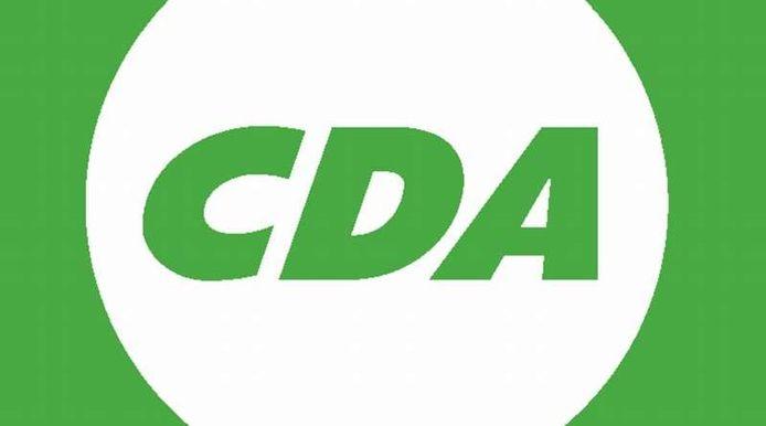 Het logo van het CDA, dat een partijkantoor heeft in Den Haag.
