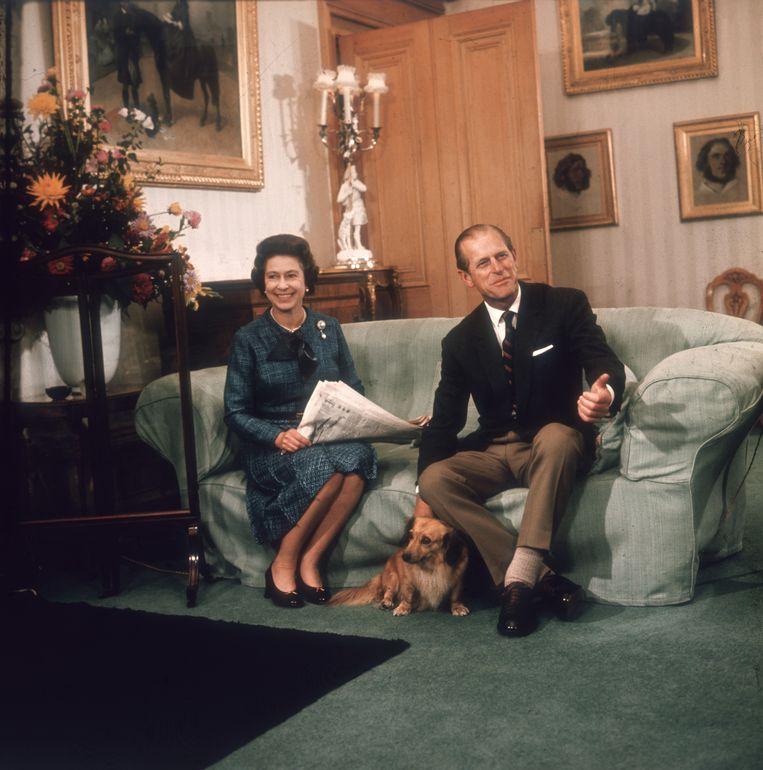 De hertog van Edinburgh, prins Philip, met zijn echtgenote koningin Elizabeth II. Beeld Getty Images